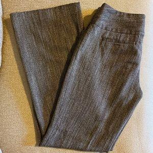 Woman's brown tweed dress pants